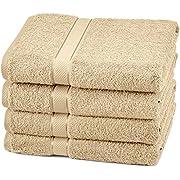 Amazon Brand – Pinzon 4 Piece Egyptian Cotton Bath Towels Set - Driftwood