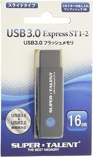 Super Talent USB 3.0 闪存 16 GB 一键滑动 ST3U16ES12