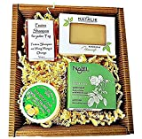 Beauty - 4er Seifen Geschenk Set 1 x Naturseife & 2 x Natur-Shampoo 1 x Natur Haar-Seife