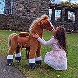 PonyCycle Officiel Classique U Série à Cheval Jouet en Peluche Animal Marchant Cheval Brun pour Les Enfants de 4 à 9 Ans Taille Moyenne U424