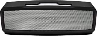 Silicone Soft Case Compatible Bose Soundlink Mini 1 and 2 Speaker, Bose Mini case/Gel Soft Skin Cover/Silicone Waterproof Rubber Case, Travel Carry Pouch (Black)