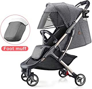 Hot Mom Lightweight Baby Stroller Buggy Suitable for Travel-Gray