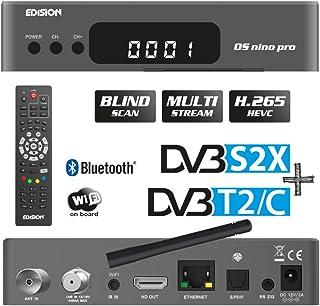 EDISION OS NINO PRO Full HD Linux E2 Combo-Receiver H.265/HEVC (1x DVB-S2/X, 1x DVB-T2/DVB-C, Multistream, Blind Scan, WLA...