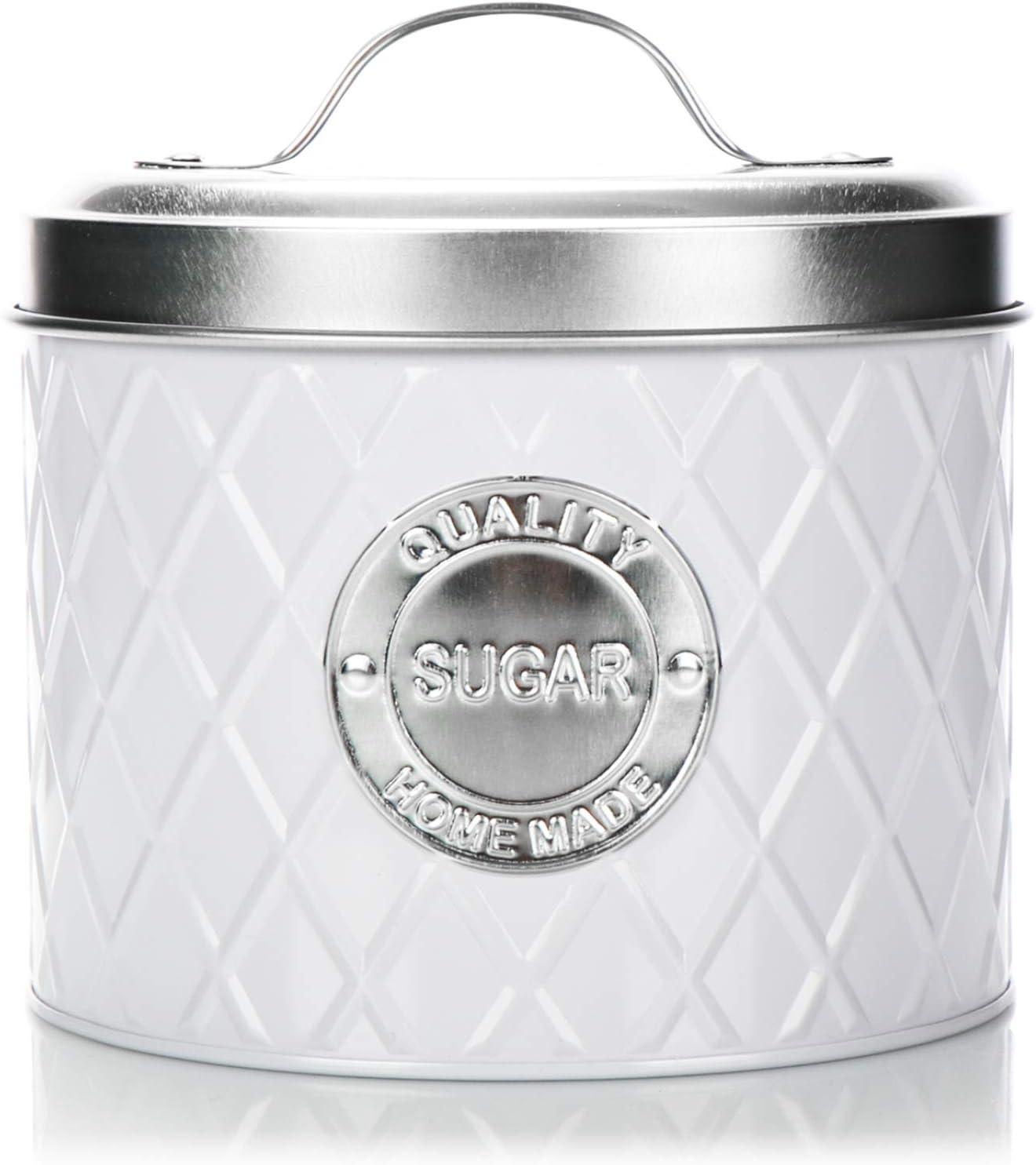 zuccheriera elegante barattolo salvafreschezza COM-FOUR/®SUGAR barattolo con coperchio contenitore per zucchero 1 pezzo - bianco