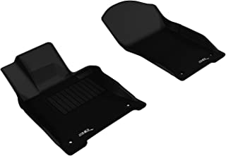 3D MAXpider Front Row Custom Fit All-Weather Floor Mat for Select Infiniti Q50 Models - Kagu Rubber (Black)