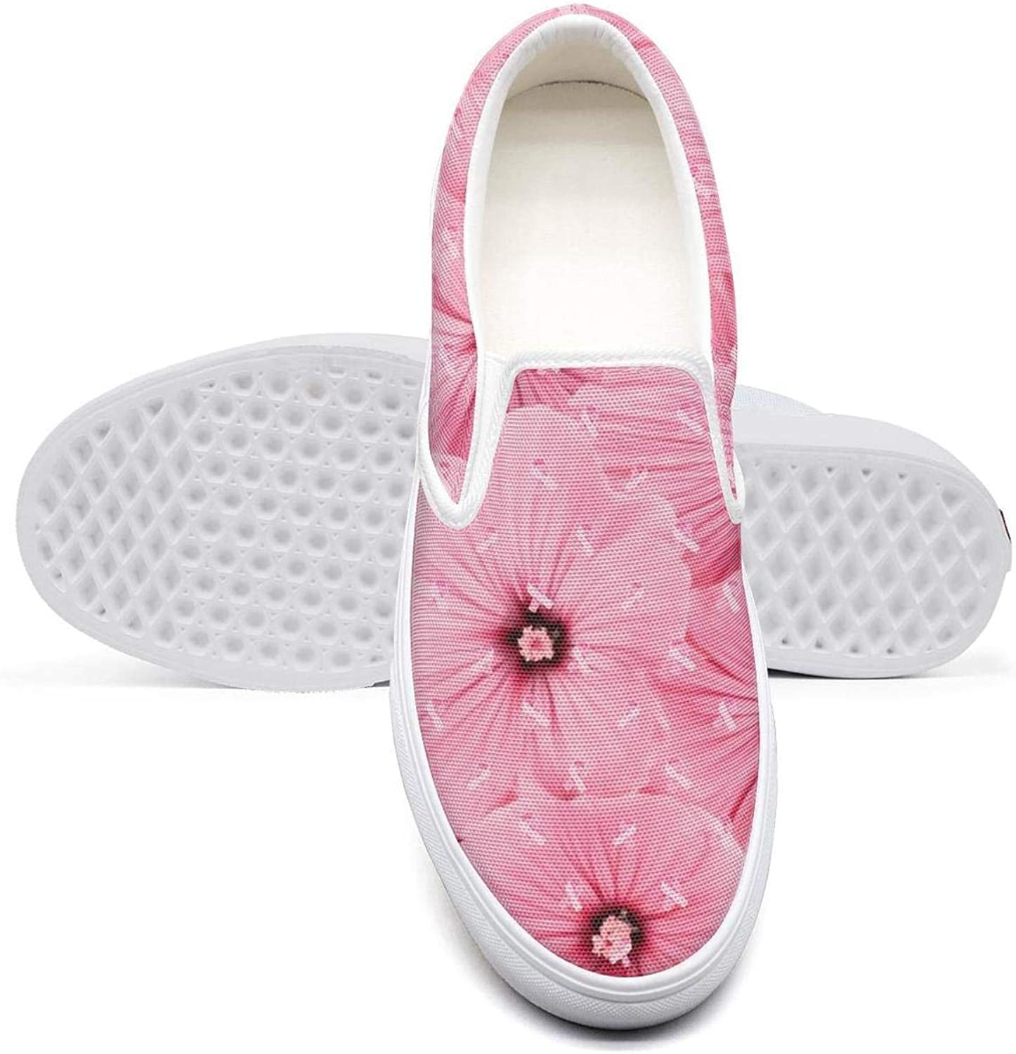 PDAQS Women Breast Cancer Awareness Pink Casual Loafers Canvas shoes Low top