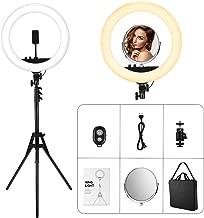 VicTsing Anillo de Luz led Fotografia, 48 cm, 55W, 3200-5600K Temperatura de Color, Brillo Regulable (0%-100%), Control Remoto Inalambrico, para Movil y Camara, Youtube y Selfie Video de Maquillaje