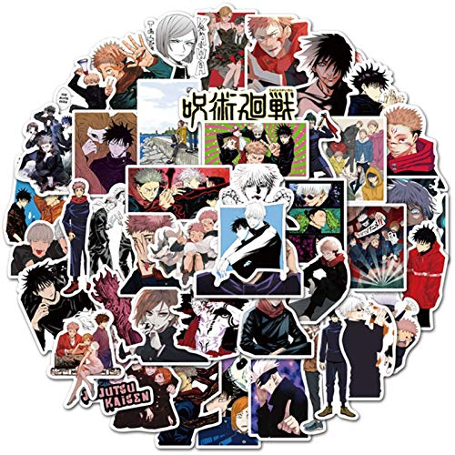 ALTcompluser Paquete de 50 pegatinas Jujutsu Kaisen, Japón Anime Ryomensukuna Pegatinas DIY Decoración Portátil Snowboard Teléfono Botella de Agua Equipaje para Adultos Niñas Niños (Multi-6)