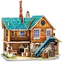 3D Wooden Puzzle for Home Decor/Construction Toy/Modeling Kit/School Project/Manual Model, Hand Workshop