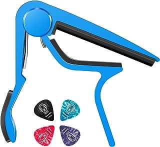 Donner ギター カポ capo 楽しい音楽体験のため参上 多彩7色選択可能 青