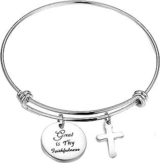 Great is Thy Faithfulness Hymn Bracelet Inspirational Bible Verse Bracelet Jewelry