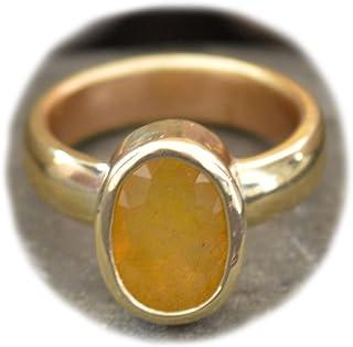 55Carat Natural Yellow Sapphire Panchdhatu Ring for Women 4 Carat Birthstone Size 5,6,7,8,9,10,11,12,13