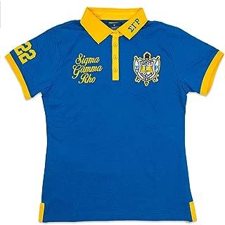 Sigma Gamma Rho Sorority Women's New Polo Tee Blue