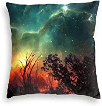YANAIX Red Galaxy Decorative Pillow Case Home Decor Pillowcase Gifts Colourful (20x20 Inches)