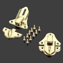 SSB-DAKOU, 2 stuks antieke gouden box latches decoratieve haspe latch toggle voor sieraden van hout doos koffer met schroe...