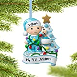 Personalized Baby's First Christmas Ornament - Baby Boy