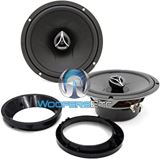 """pkg Hertz ECX-165.5 6.5"""" 210W 2-Way Coaxial Speakers + Pair of Harley Davidson 5.25"""" to 6.5"""" Speaker Adapter Rings for Ultra Classic Motorcycles"""