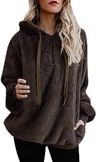 Women's Sweatshirt, FORUU Fashion Comfy Soft Cute Breathable Hooded Winter Warm Zipper Pocket Pullover Blouse Shirts