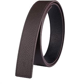 Vatee's Reversible Men's Belt Strap Without Buckle Genuine Full Grain Leather Adjustable 1.34