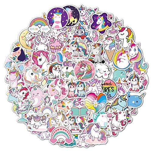 Pegatinas de unicornio de 100 unidades de pegatinas de graffiti, pegatinas de vinilo para portátil, botellas de agua, snowboard, equipaje, niños DIY, coloridas pegatinas