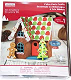 Gingerbread Man and House Christmas Craft 3D Foam Kit 59 Pieces