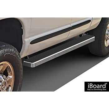 iBoard Third Generation, For Selected Dodge Ram 1500//2500//3500 Quad Cab, Aluminum APS IBDY5997 Silver 4 Running Board Side Step