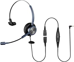 $35 » Sinseng Telephone Headset with 2.5mm Jack, Noise Cancelling Microphone & Volume Mute Controls, Single Ear Wired Office Pho...