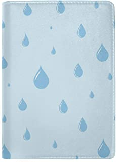 A Lot of Watercolor Rain Drops Blocking Print Passport Holder Cover Case Travel Luggage Passport Wallet Card Holder Made with Leather for Men Women Kids Family