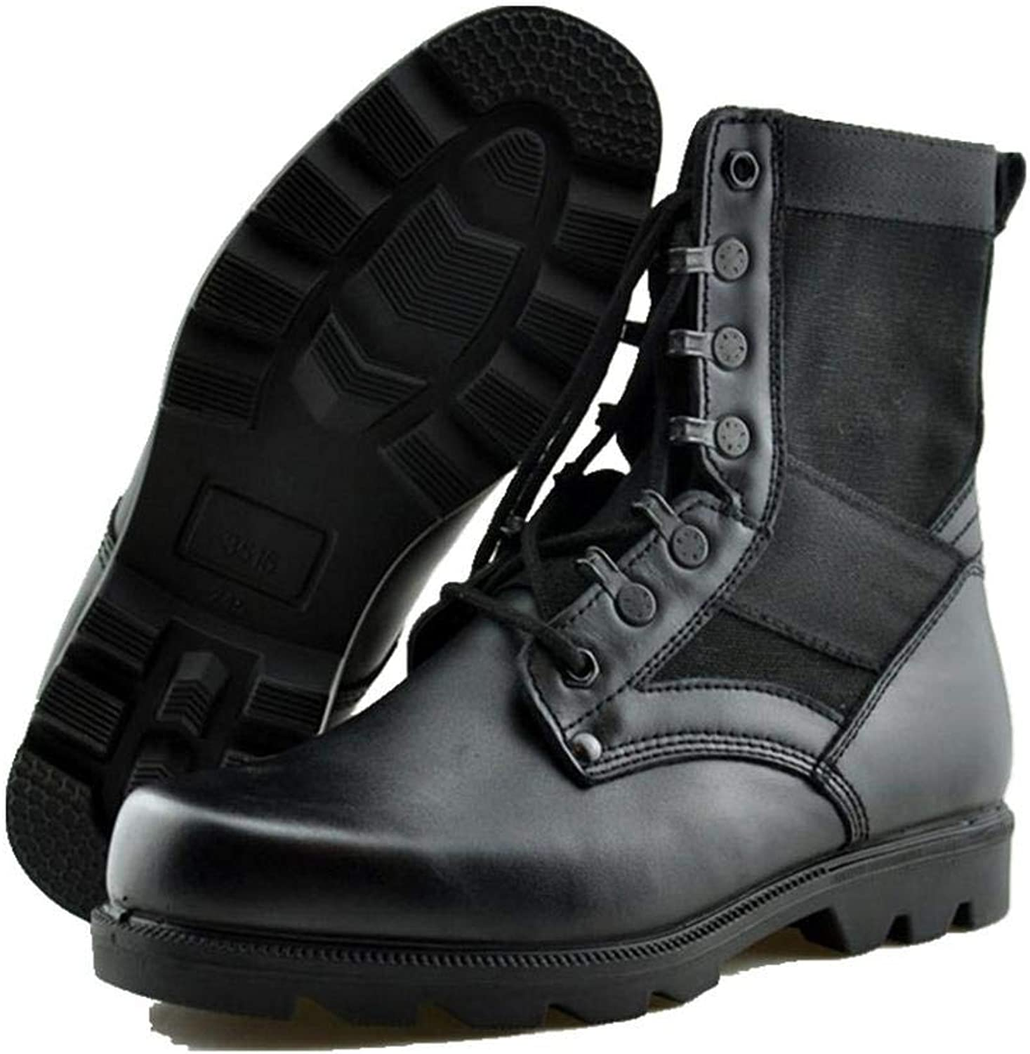 QIKAI Desert Combat Boots Combat Boots, Military Boots, Men's Training, Tactical Boots, high-top Outdoor Training shoes