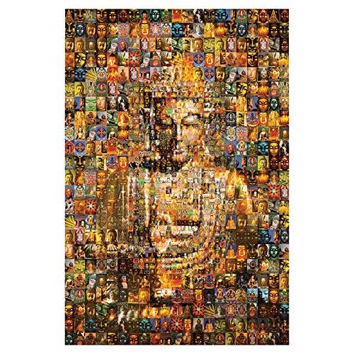 Adoff Jigsaw Puzzle 1000 Buddha Ten Thous Buddhas Puzzle Juguete Adultos Niños Clásico Decoración de la Papel