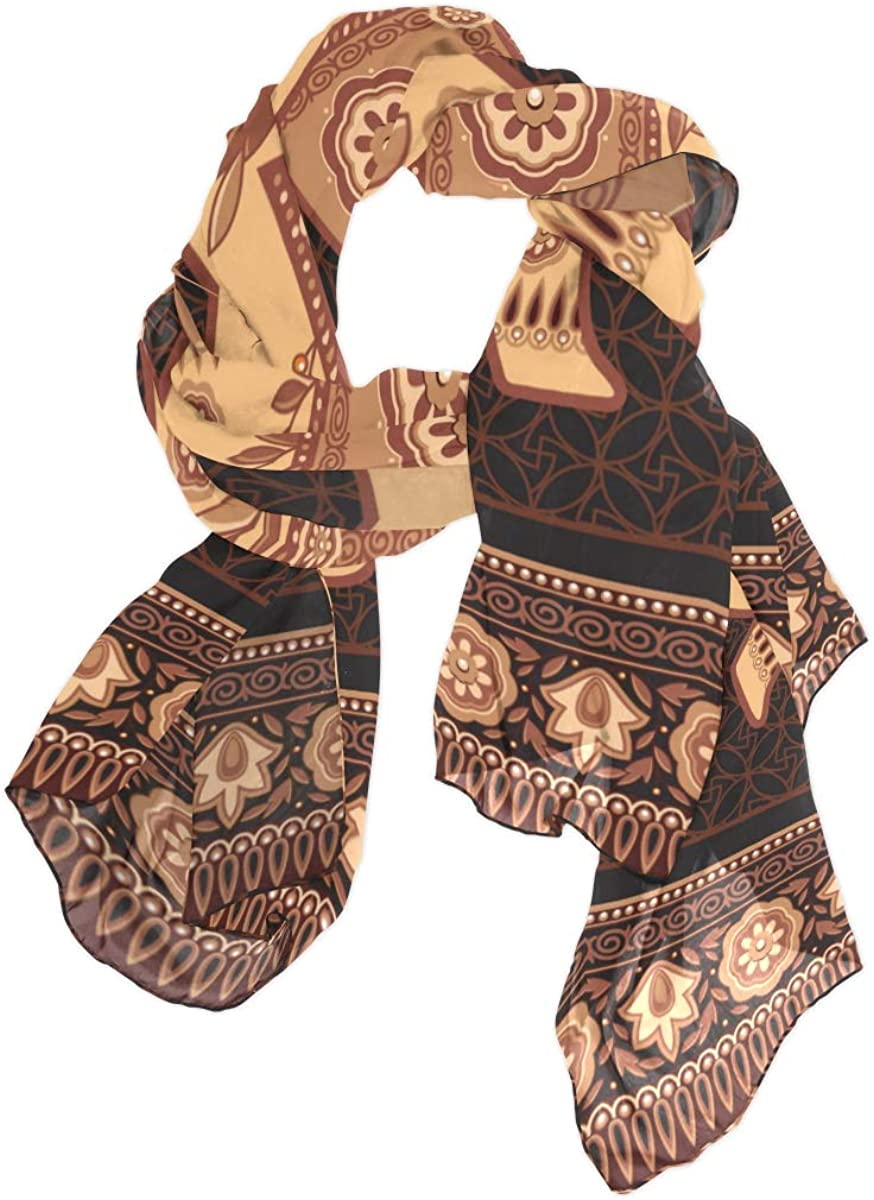 Large Scarf For Women Decorated Indian Hindu Elephant In High Detail Scarf Toddler Body Shawl Wrap Lightweight Print Scarves Scarf Long Womens Fashion Scarfs Lightweight