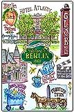 Graman Cartel retro de lata de metal de Berlín, estilo rústico, decoración para el hogar, sala de estar, cocina, baño, 20 x 30 cm
