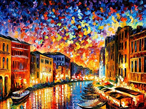 DIY 5D Diamond Painting Kit, Round Full Drill Embroidery Cross Stitch Arts Craft Canvas Supply for Home Wall Decor 11.8x15.75Inch (DZZSH025)