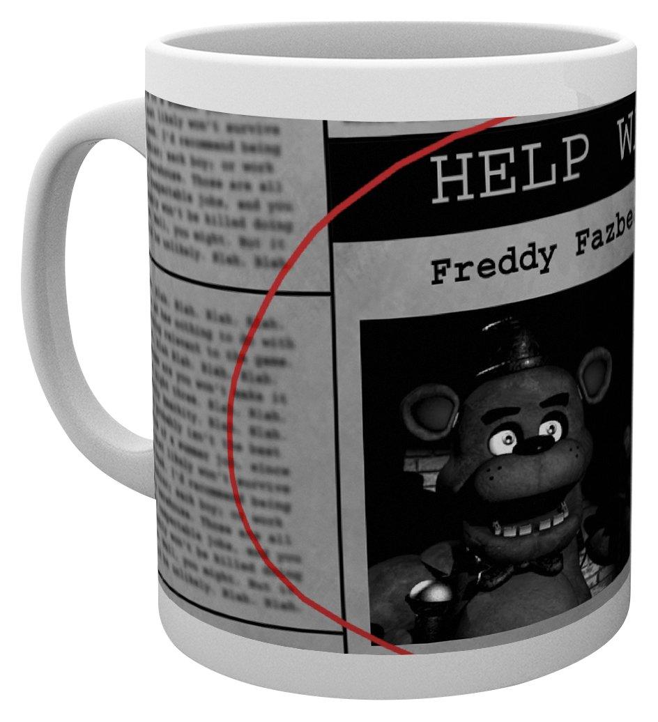 GB eye LTD MG1518 , Five Nights at Freddys, Help Wanted, Mug, Wood, Various, 15 x 10 x 9 cm