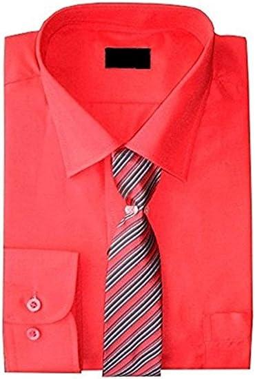 Camisa Y Set Corbata Niños Formal/Inteligentes Camisa Manga Larga By Device Ideal Para Bodas Edad 6M-15 años