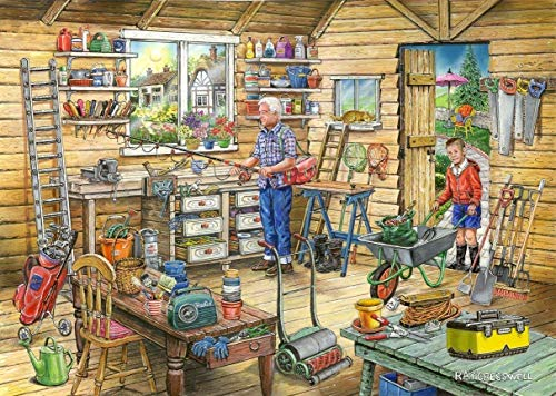 1000-piece Puzzle Jigsaws (Toys & Games) Landscape Puzzle Jigsaw Puzzle 1000 Piece Jigsaw Puzzle - Find The Differences No.14 - Fred's Shed