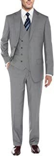 Mens Suit Vested Three Piece Blazer Jacket Dress Vest Plus Pants