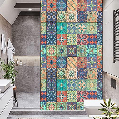Película de privacidad para ventana, diseño de mosaico esmerilado, autoadhesivo, adhesivo decorativo de vidrio, para Homel W31,5 x H49,2 (80 x 125 cm)