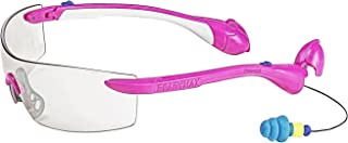 ReadyMax SoundShield Women's Sport Style, Pink Frame, Indoor/Outdoor Anti-Fog, Scratch Resistant Safety Glasses w/Built in Hearing Protection