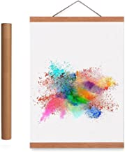Benjia 24x36 24x18 Poster Frame, Light Wood Wooden Magnetic Poster Hangers Frames for Photo Picutre Canvas Artwork Art Print Wall Hanging(1 Pack, 24