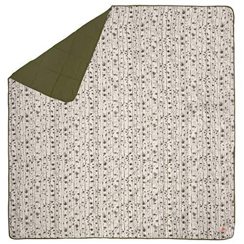 Kelty Biggie Blanket, Winter Moss/Aspen Eyes, 2-Person Blanket, Stuff Sack Included - Indoor/Outdoor Insulated Camping Blanket