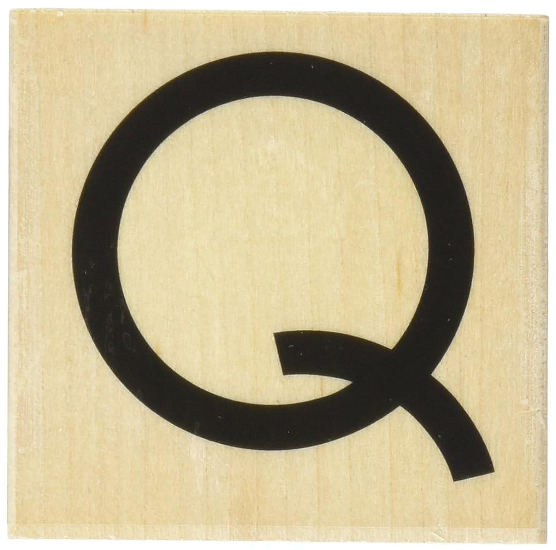 Hero Arts Art Deco Q Alpha Woodblock Stamp