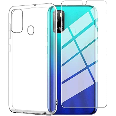 """Ulefone Note 9P Case (6.52"""") with Tempered Glass Screen Protector,Crystal Soft Clear Shockproof TPU Bumper Transparent Silicone Protective Phone case Cover for Ulefone Note 9P"""