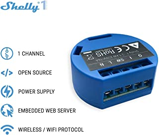 SHELLY 1 One Smart Relay Switch Wireless WiFi Home...