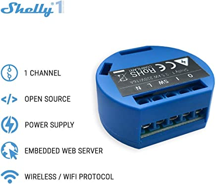 SHELLY 1 One Smart Relay Switch Wireless WiFi Home Automation iOS Android Application (2 Pack)