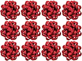 The Gift Wrap Company Decorative Glitterati Lotus Bows, Large, Red