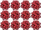 The Gift Wrap Company Decorative Glitterati Lotus Bows, Medium, Red
