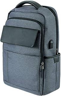 حقيبة الظهر المخصصة لحمل اللاب توب ايليباك من سانثوم مع منفذ يو اس بي خارجي، قياس 18.5 انش، لون رمادي