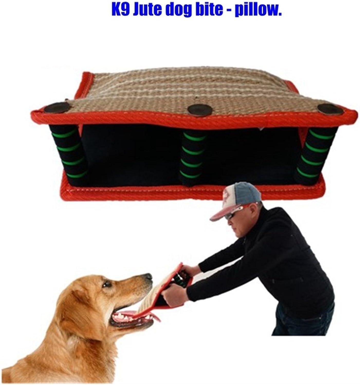 Luyang New K9 Jute Cloth Training Dog bite Pillow, pet Toy, 3 Soft & Metal Handle Dog bite Pillow, Working Dog Belgian Malin Collie Dog bite Pillow.