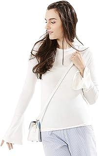 Koovs, White High Neck Pullover Top For Women